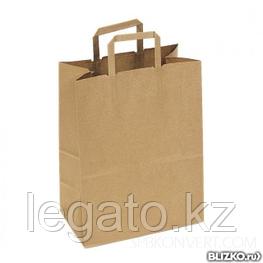 Пакет с плоскими ручками б/п 280*150*320 крафт 250шт/кор