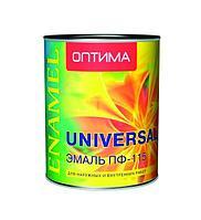 Эмаль Оптима  пф-115 глянцевая, терракот для пола, 0,9 кг