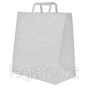 Пакет с плоскими ручками б/п 320*200*370 БЕЛЫЙ 200шт/кор