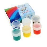 Краска для ткани акриловая, набор 6 цветов x 20 мл, DecArt