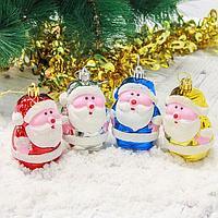 """Украшение ёлочное """"Дед Мороз"""" (набор 4 шт) 7,5*4,5 см"""
