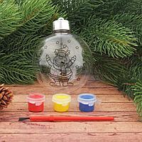 Новогоднее ёлочное украшение под роспись «Шар с оленем» шар: 8×9,5 см + краски