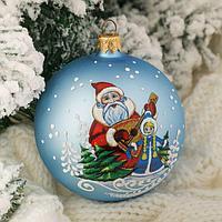 "Шар ""Дед Мороз и Снегурочка"" 8,5 см микс"