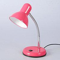 Настольная лампа 1x60W E27 розовая 14x14x33см