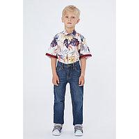 Рубашка с коротким рукавом для мальчика, цвет молочный, рост 134 (9 лет)