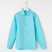 Сорочка для мальчика, цвет бирюзовый, рост 116-122 см