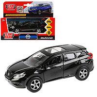 Машина металлическая, инерционная «Nissan Murano» чёрный, 12 см, открывающиеся двери