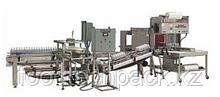 Оборудование NORLAND  для формирования групповой упаковки и укладки бутылок на поддон или в коробки