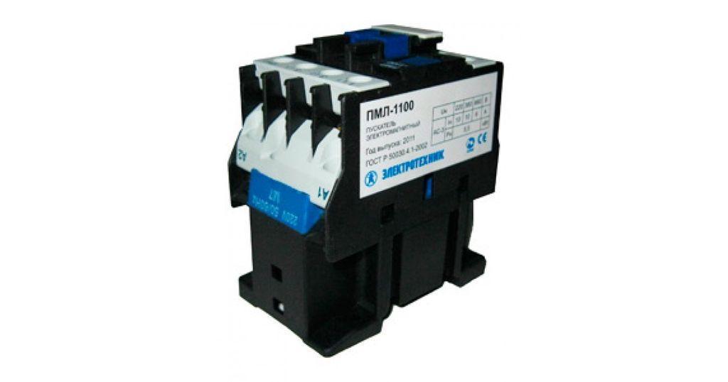 ПМЛ-1100 УХЛ4 Б, 220В/50Гц, 1з, 10А, нереверсивный, без реле, IP00, пускатель электромагнитный  (ЭТ)