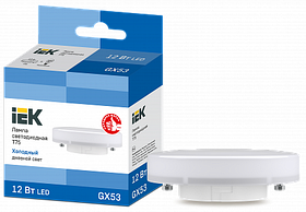 Лампа светодиодная ECO T75 таблетка 12Вт 230В 6500К GX53 ИЭК