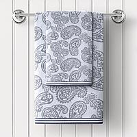 Полотенце махровое Persia, орнамент, серый