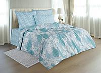 Комплект постельного белья Bonnie, листья, голубой