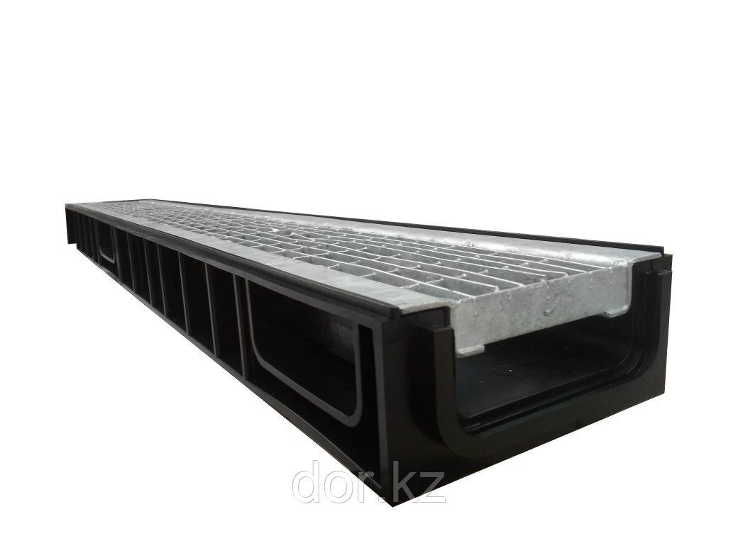 Лоток Ecoteck STANDART light 100.65 h69 с решеткой сварной оцинкованной, кл.В125