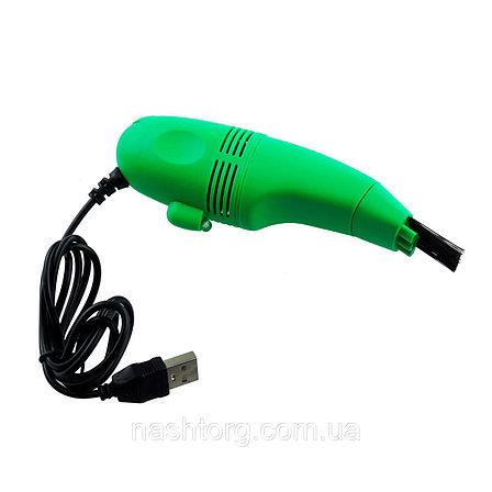 Мини usb пылесос для клавиатуры зеленый, фото 2