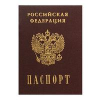 Записная книжка А6, 16 листов 'Паспорт. Россия', обложка мелованный картон, матовая ламинация, 3D-фольга, блок