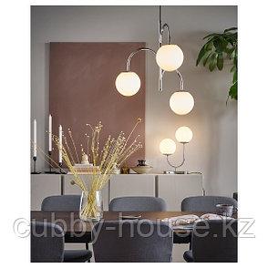 СИМРИСХАМН Подвесной светильник, 3-рожк, хромированный/молочный стекло, фото 2