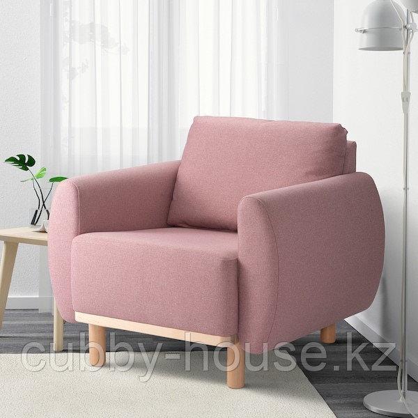 ГРУННАРП Кресло, Гуннаред светлый коричнево-розовый