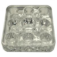 Подставка под емкости для красок пластик. прозр. квадрат. 9 в 1 №72548(2)