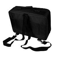 Сумка-чемодан для визажиста XZ-08 с делениями/матерчатый 40х28 см (черный) №74788(2)