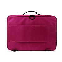Сумка-чемодан для визажиста XZ-08 с делениями/матерчатый 40х28 см (розовый) №74795(2)
