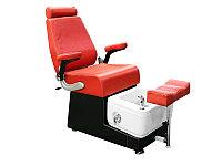 FB-9009 B Кресло педикюрное с ванночкой и откидной спинкой (красно-черное)