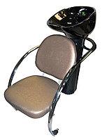 L-601 Мойка парикмахерская с креслом (серая, крокодил)