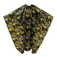 Пеньюар для парикмахера AISULU WB-11 (рис. инструменты) черный №90740