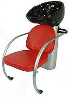 L-601 Мойка парикмахерская с креслом (красная, прошитая)