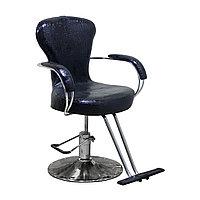 H-682 Кресло парикмахерское (черное, глянец, крокодил)