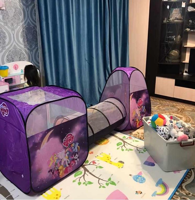 Большая детская палатка с тоннелем Пони