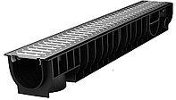 Лоток Ecoteck STANDART 100.125 h129 с решеткой стальной, кл.А15