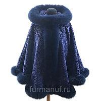 Пальто бархатное с мехом