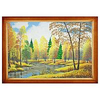 """Картина """"Осенний пейзаж"""" багет дерево 46х66 см, каменная крошка"""