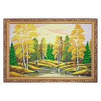 """Картина """"Осенний пейзаж"""" багет 46х66 см, каменная крошка"""