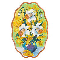 "Панно с рисунком из камня ""Нарциссы"" 29х19 см"
