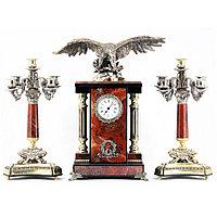 """Каминные часы с канделябрами """"Горный орел"""""""