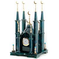 "Часы ""Мечеть"" камень змеевик малая"
