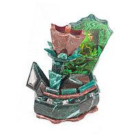 """Ларец """"Каменный цветок"""" с иллюстрацией змеевик лемезит 19,5х15,5х24,5 см"""