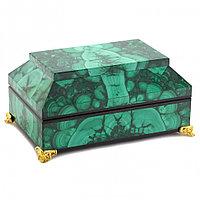 "Малахитовый ларец ""Драгоценный"" камень малахит 15х10х7 см"