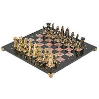 """Шахматы подарочные """"Викинги"""" с бронзовыми фигурами 40х40 см"""