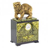 """Часы с выдвижным ящиком """"Рычащий медведь"""""""