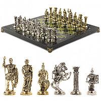 """Подарочные шахматы из камня """"Римские воины"""" 44х44 см"""