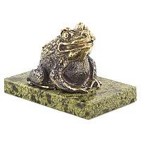 """Статуэтка """"Жаба"""" змеевик бронза"""