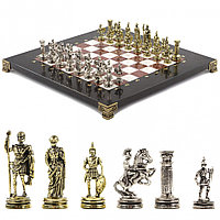 """Шахматы """"Римские воины"""" 28х28 см из лемезита и мрамора"""