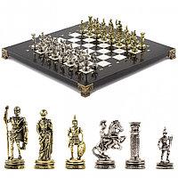 "Шахматы ""Римские воины"" 28х28 см из мрамора"