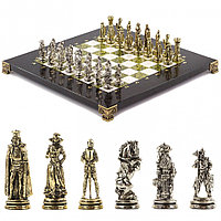 """Шахматы """"Рыцари"""" 28х28 см змеевик мрамор"""