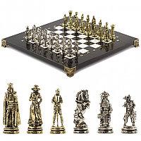 "Шахматы ""Рыцари"" 28х28 см из мрамора"