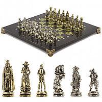 """Шахматы """"Рыцари"""" 28х28 см змеевик"""