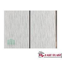 """Стеновая ПВХ панель """"Hast Plast"""" 2-ух полосная (серебро, серый дождь глянцевый)"""