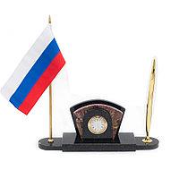 Визитница с флагом России из креноида